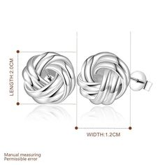 Aliexpress.com : Buy Geometric Stud Earrings,Trendy 925 Sterling Silver Gift Accessories For Women Girls,Simple Geometric Twist Silver Earrings from Reliable accessories cotton suppliers on Coinbabi Jewellery Store