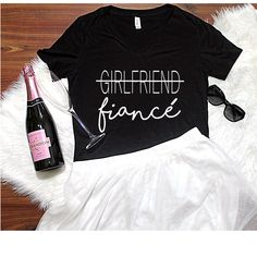 Fiance T-Shirt With Last Name S-2XL, Women's Apparel, Engagement Gift, Bridal Party Shirt, Fiance Shirt, Bachelorette Party by ShopatBash on Etsy