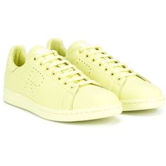 Adidas By Raf Simons 'Stan Smith' sneakers (€620) ❤ liked on Polyvore featuring shoes, sneakers, unisex sneakers, adidas, flat sneakers, lace up sneakers and leather lace up sneakers