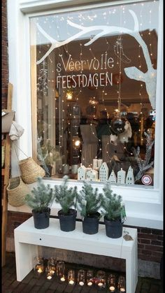 Vitrine de Noël - www.drawink.nl window drawing at Sterk&sVeer #chalkmarkers #christmas…
