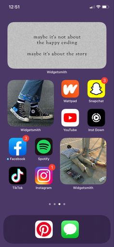 Iphone Layout, Happy Endings, Just Giving, Homescreen, Snapchat, Wattpad, Youtube, Instagram, Apps
