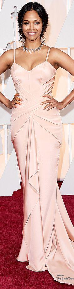 #Oscars2015 Zoe Saldana in Atelier Versace - best dressed of the night