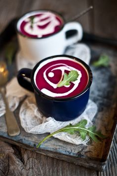 Beet, Apple, Coconut Milk and Ginger Soup Recipe - this looks so delicious an warming ❤️