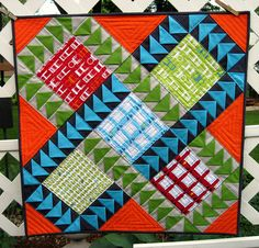 Modify Tradition Swap by Piecemeal Quilts  (dimensional flying geese)
