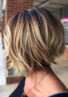 34 Stylish Layered Bob Hairstyles Bob hair cuts have been very poplar for the pa Bob Haircuts For Women, Short Bob Haircuts, Short Hairstyles For Women, Bob Hairstyles For Fine Hair, Layered Bob Hairstyles, Hairstyles Videos, Hairstyles Haircuts, Thick Hair Bob Haircut, Hairstyles Pictures