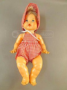 1978 Rub A Dub Dolly Ideal Doll Co. Plastic Doll