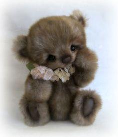 "So Sweet 9 5""Tissavel Faux Fur Chubby Bear Cub OOAK Janice Woodard Booh Bears | eBay"