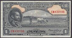 Ethiopia 1 Dollar ND 1945 XF AU P12C Haile Selassie Rare This Nice | eBay http://www.ebay.com/itm/ETHIOPIA-1-Dollar-ND-1945-XF-AU-P12c-HAILE-SELASSIE-RARE-NICE-/160762017282?pt=Paper_Money=item256e29b602