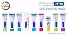 Ahora al comprar cualquier pasta dentífrica #VITIS te regalamos la seda #dental. Acércate a Farmacia Arias y aprovecha la #promocion antes de que se agoten las existencias ;)