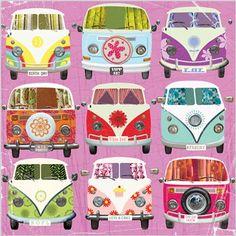☯☮ॐ American Hippie Bohemian Psychedelic Art ~ VW Bus pattern Vw Vans, Vw Hippie Van, Hippie Bohemian, Bohemian Style, Vw Camper, Campers, Volkswagen Bus, Beach Rides, Hippies
