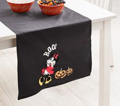 Disney Mickey Mouse Halloween Table Runner | Pottery Barn Kids Mickey Halloween Party, Halloween Plates, Halloween Season, Scary Halloween, Halloween 2020, Disney Halloween Decorations, Halloween Tablecloth, Halloween Table Runners, Mickey Mouse Characters