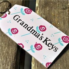 Wooden Key Ring:  Grandma's Keys