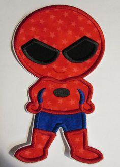 Iron On Applique -  Super Hero Spider Boy