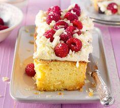 Witte chocoladecake met frambozen - Recept - Jumbo Supermarkten