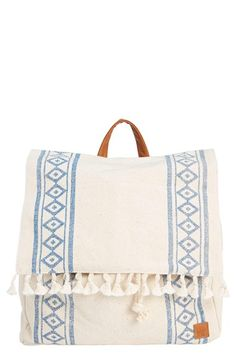 Free shipping and returns on Billabong 'Moonglow' Backpack at Nordstrom.com. Geo-patterned burlap, tassel trim and faux-leather accents create a distinctly boho vibe on a right-size backpack cinched with a braided rope hidden under the top flap.
