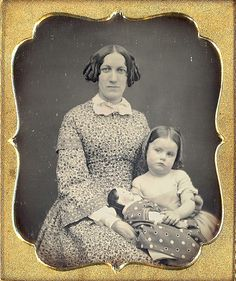 Mother, child and doll daguerreotype
