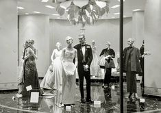 STORE - THE ST REGIS ROOM - HIGH FASHION WINDOW DISPLAY - LATE 1950s