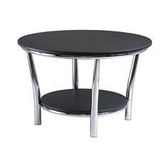 Winsome Wood 93230 - Maya Round Coffee Table, Black Top, Metal Legs   Sale Price: $91.95
