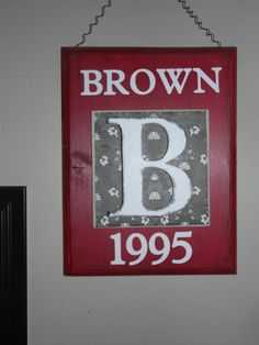 B is for Brown by Chelbies on Etsy, $18.00