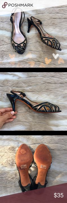 Arturo Chiang Slingback Pumps This chic and dainty pair of slingback pumps possess a vintage look, with modern touches. They are good pre-worn condition and must haves in your closet! Arturo Chiang Shoes Heels