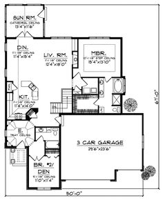 English Cottage floor plans   English Tudor House Plan First Floor - 051D-0344   House Plans and ...
