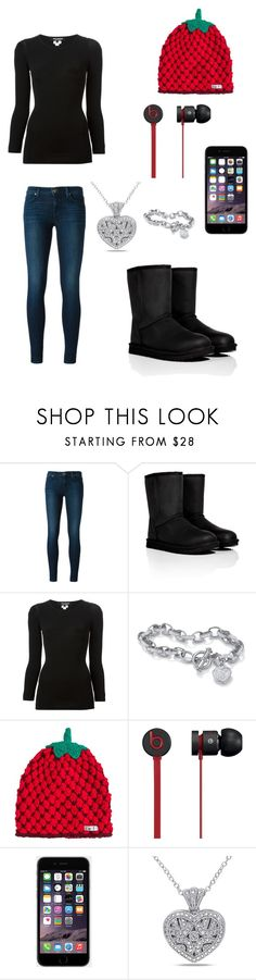 """:)"" by rorschachsjournal ❤ liked on Polyvore featuring J Brand, UGG Australia, Palm Beach Jewelry, Neff, Beats by Dr. Dre and Miadora"