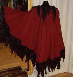 Full Circle Cape Cloak Upcycled style by CadwaladrCostumes on Etsy, $179.00
