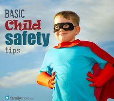 Basic child safety tips
