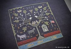 soar sampler - designed by with they needle and thread