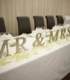 My Wedding Reecespieces Mr Mrs Sign Letters For Top Table Etc