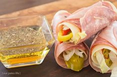 Keto Italian Sub Roll-Ups from Our Paleo Life. Perfect and easy to make recipes and ideas for beginners to the ketogenic diet! Perfect for snacks, dinners, lunches -- any meals really. Low carb and delicious with meats and cheeses.