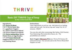 Is your fear that cooking with THRIVE Freeze Dried food is a little different so it is easier to stay with familiar habits? Even if it will take longer, is not as nutritious, and in a lot of cases cost you more money? Thrive Food Storage, Cup Of Soup, Long Term Food Storage, Thrive Life, Single Serving Recipes, Freeze Drying Food, Thing 1, Meals In A Jar, Outdoor Cooking