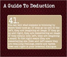 A Guide to Deduction: #41-I love these things