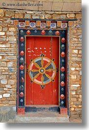 Ornate door, in Bhutan Cool Doors, Unique Doors, The Doors, Entrance Doors, Doorway, Windows And Doors, Front Doors, Knobs And Knockers, Door Knobs