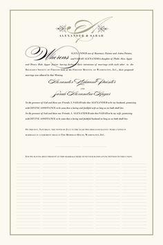 Guestbook Alternative / Wedding Certificate