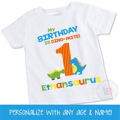 Dinosaur Birthday Shirt First 1st By Ellastrunk Shirts Party