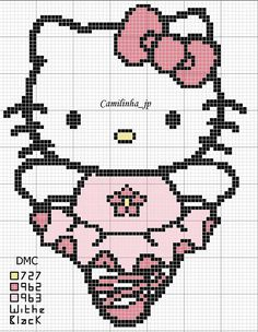 hello kitty plastic canvas | Free Cross Stitch Patterns: including free cross stitch patterns