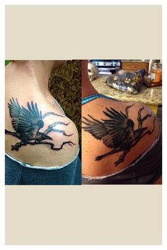 0372a4374 Raven Tattoo Shoulder Raven Tattoo Meaning, Shoulder Tattoo, Animal Tattoos,  Meant To Be