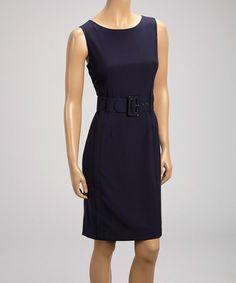 Look at this #zulilyfind! Indigo Sheath Dress #zulilyfinds