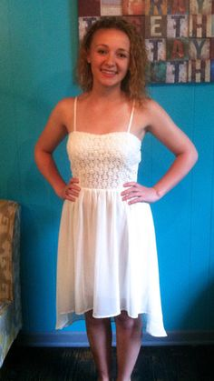 Cream Lace Top Dress | Lynn's Boutique
