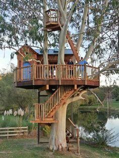 Tree house Cooles Baumhaus Ideen Choosing the Right Wallpaper Article Body: There i Beautiful Tree Houses, Best Tree Houses, Kid Tree Houses, Cool Tree Houses For Kids, Tree House Plans, Adult Tree House, Tree House Homes, Tree House Deck, Modern Tree House