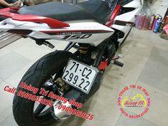 Xe Exciter 150 dán tem limited màu trắng nhám tại Hoàng Trí Racing Shop