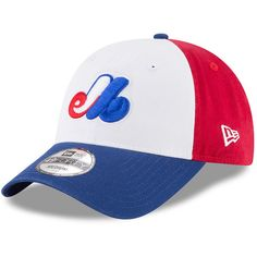 31aecc8e5e1e7 Montreal Expos New Era Cooperstown Collection Core 49FORTY Fitted Hat -  White Royal