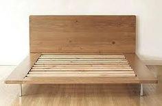 Queen Size Muir Platform Bed at Remodelista Diy Platform Bed Plans, Raised Platform Bed, Platform Bed Designs, Wood Platform Bed, Reclaimed Wood Bedroom Furniture, Modern Wood Furniture, Reclaimed Wood Furniture, Bed Furniture, Reclaimed Lumber