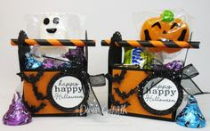 Two for Thursday ~Halloween/ Christmas Candy Tool Box Videos. Halloween Christmas, Christmas Candy, Happy Halloween, Halloween Treat Holders, Halloween Treats, Dawns Stamping Thoughts, Dollar Tree Store, Paper Straws