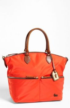 Dooney & Bourke 'Zip Sac' Nylon Satchel Orange in January 2013 Get Active from Nordstrom on shop.CatalogSpree.com, my personal digital mall.