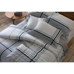 68ee409666 Jogo de cama solteiro King 300 Fios 3 peças - Grid Naturalle Fashion Sultan