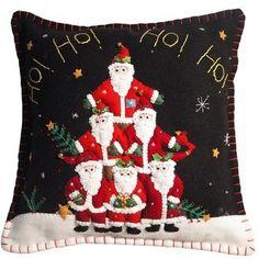 New World Arts Santa Pyramid Pillow