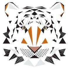 digital art | Geometric Shapes | Big Cat. Mat Mabe. Animal Alphabet.