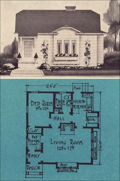 The Stetson & Post plan book is small and rare. A pity really because this is the ideal tiny house plan ... at least IMNSHO! More S & P plans are posted at Antique Home Style.